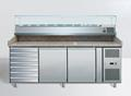 Pizzatisch 2 Türen+Schubladen 203x80x143 inkl Kühlaufsatz