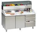 Pizzatisch 2 Türen+Schubladen 160x70x145 inkl Kühlaufsatz